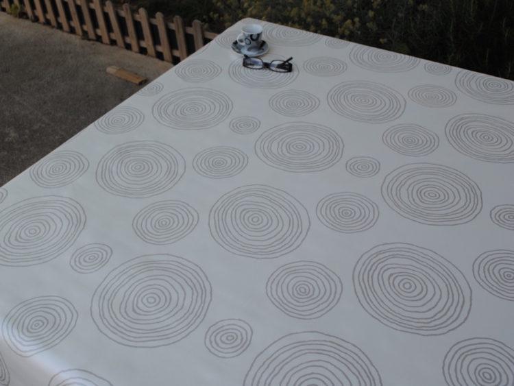 Círculos Hipnóticos Blanco Manteles de hule
