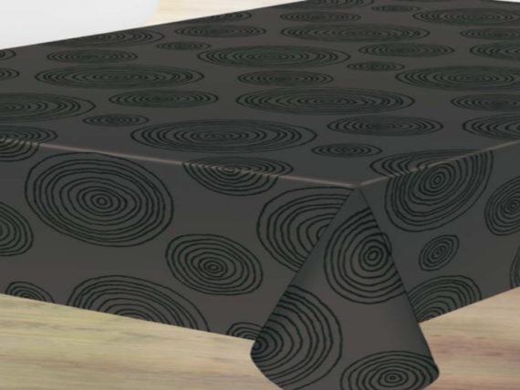Circulos Hipnóticos negro Manteles de hule
