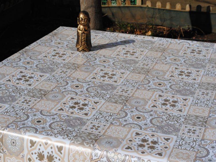 Manteles de Hule azulejos portugueses Afelpado- HuleShop - Tienda de Manteles y Hules Online