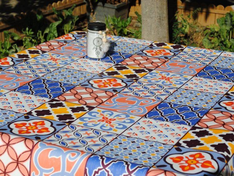 Manteles plastificados azulejos - Tienda de Manteles y Hules Online