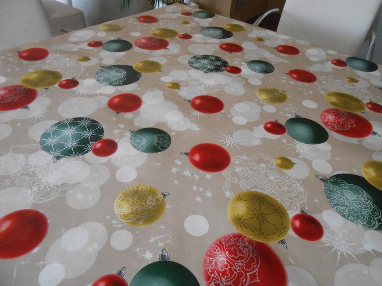 hules decoración navideña