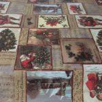 hule de adornos navideños